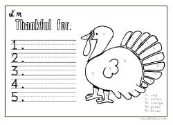 Homeschool printables for I am thankful for turkey coloring page
