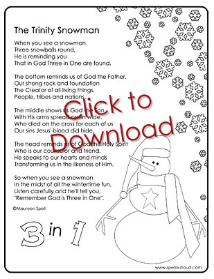 Trinity Snowman Coloring Pages